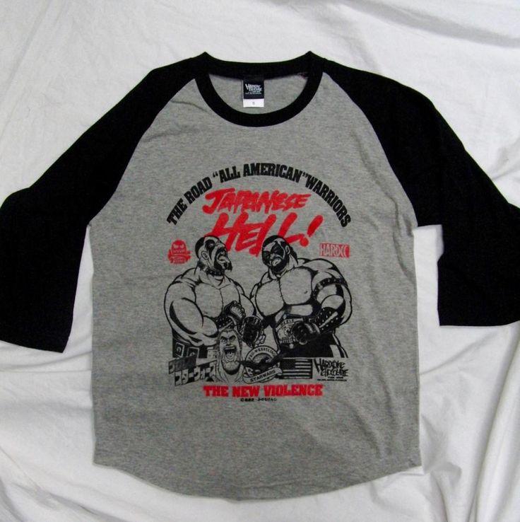 プロレス・スターウォーズ - JAPANESE HELL! - ザ・ロード・ウォリアーズ(七分袖ブラックエディション) - ホラーにプロレス!カンフーにカルト映画!Tシャツ界の悪童 ハードコアチョコレート