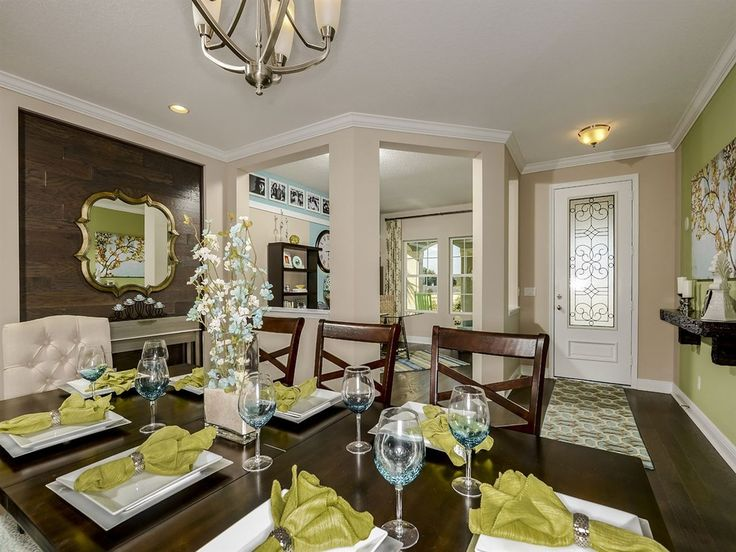 Transitional Dining Room With Carpet Hardwood Floors Chandelier High Ceiling Flush Light