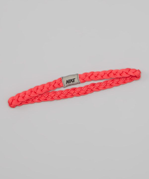 Take a look at this Nike Fusion Red & Mine Gray Braided Headband on zulily today!