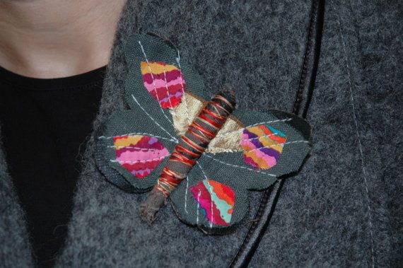 Butterfly Brooch Pin in Various Colours by ArtsOfHands on Etsy