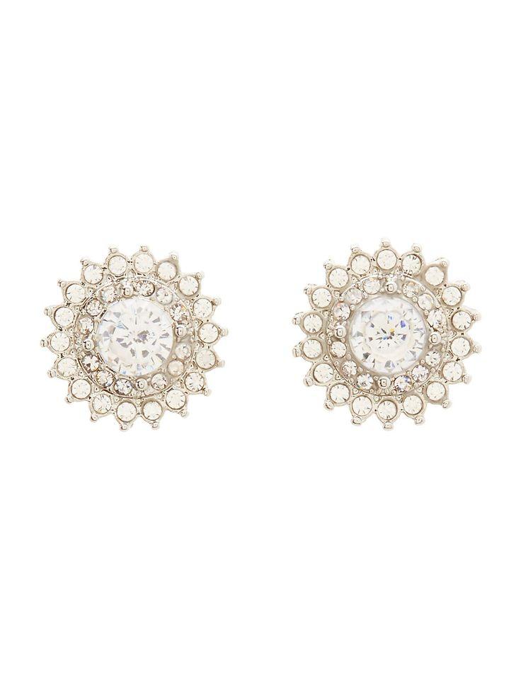 Cubic Zirconia Flower Stud Earrings #charlottelook