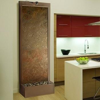 Gardenfall Slate Tech And Dark Copper Floor Fountain