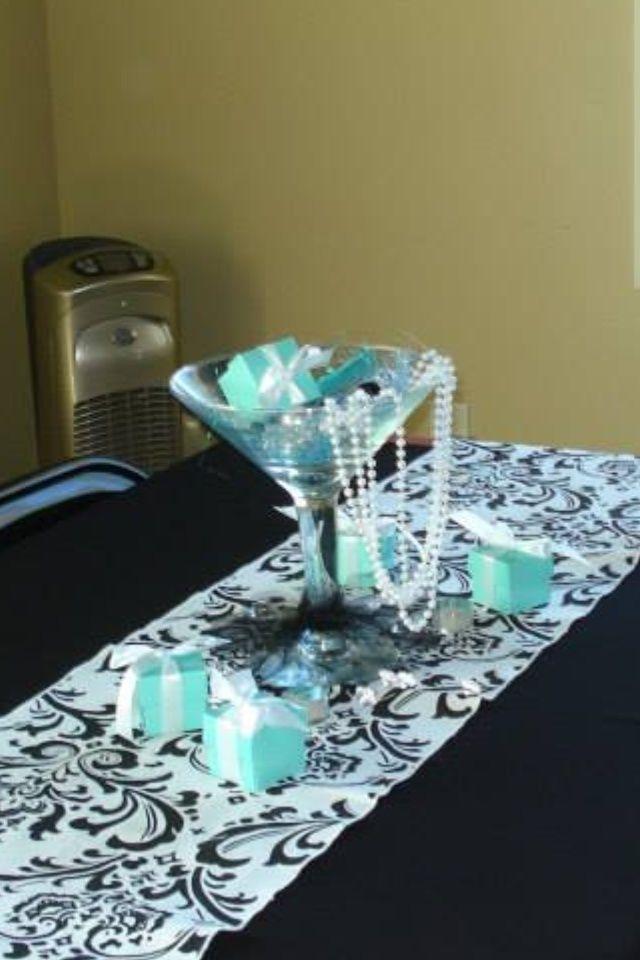 tiffany blue centerpiece | Tiffany Blue Bridal Shower Theme