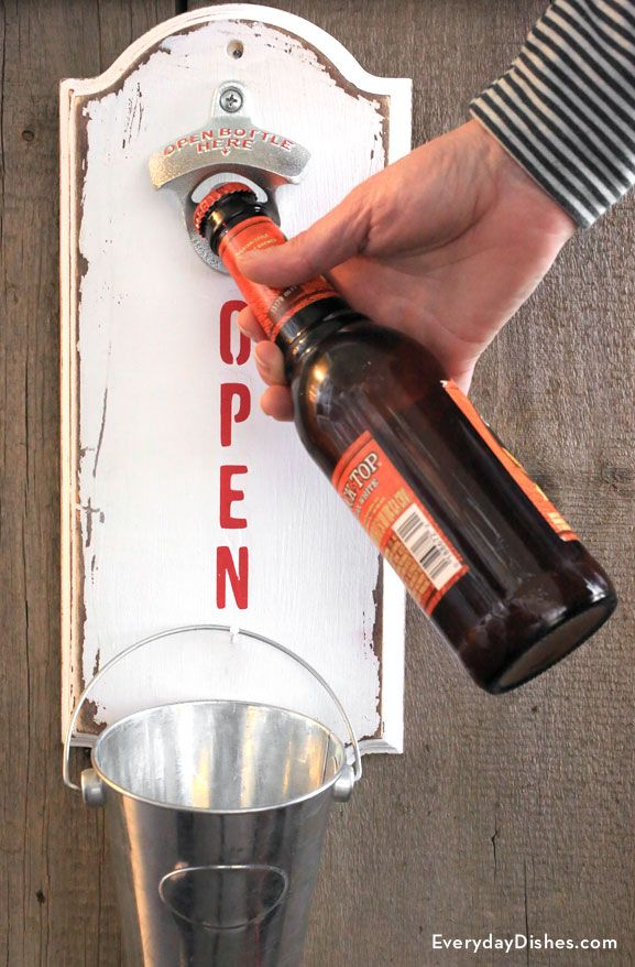 DIY wall-mounted bottle opener
