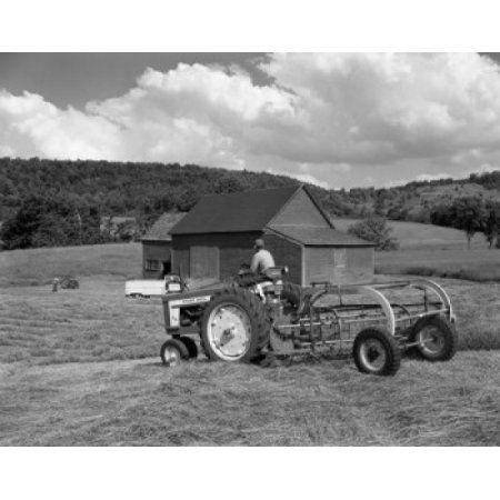 Man working on farm Canvas Art - (24 x 36)