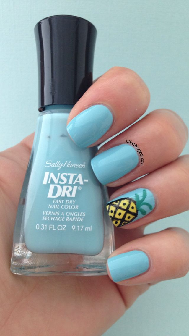 LSL's FUN BLOG: Easy Pine Apple Nail Art Design And New Video
