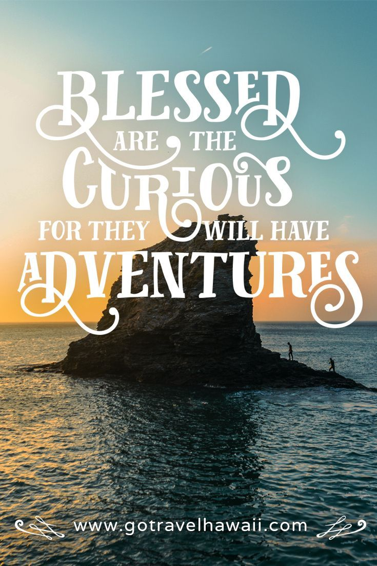 """""""Blessed are the curious for they will have adventures."""" - Inspirational Travel Quote"""