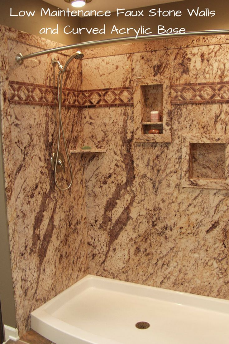 best 25 faux stone wall panels ideas on pinterest stone for 3 ideas for a low maintenance high style shower system