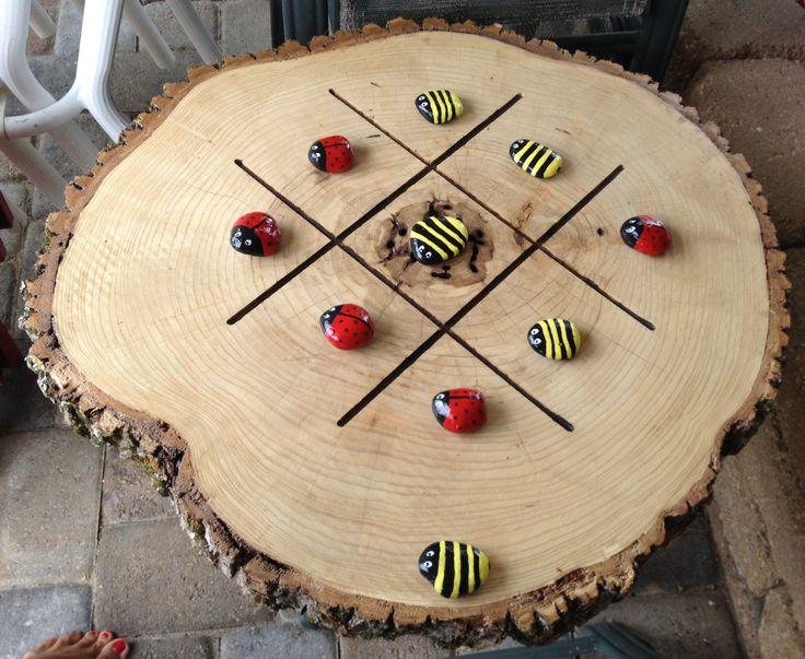 Log Tic Tac Toe Board Wood Projects Wood Crafts Wood