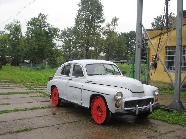 #FSO Warszawa #car adapted for rail use.