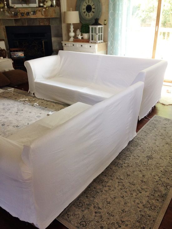 How to make a sectional slipcover, step-by-step with Confessions of a - Best 25+ Sectional Slipcover Ideas Only On Pinterest Slipcovers