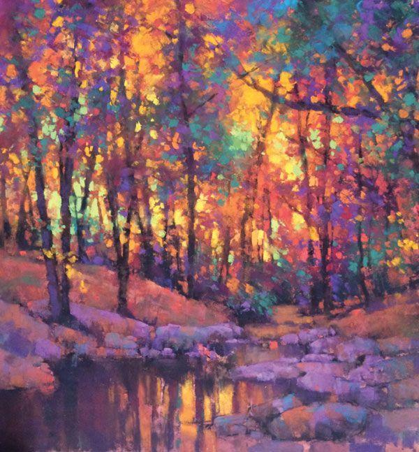 Cool Weather Warm Colors Soft Pastel Art Landscape Drawings Landscape Artist