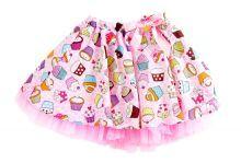 Φορέματα - Ρούχα Για Κορίτσια Για Πάρτι - Εκδύλωση :: Jelly Bean Kids Collection 2014 :: Jelly Bean Kids Εντιπωσιακή Καλοκαιρινή Φούστα με Εμπριμέ Cup Cakes - MEMOIRS Νυφικά και Γυναικεία Φορέματα