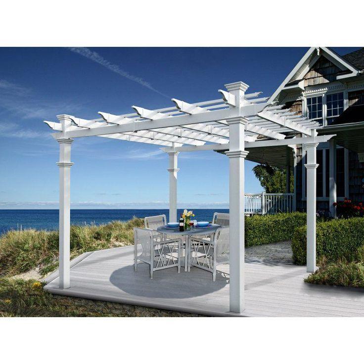 Best 25 vinyl pergola ideas on pinterest pergola roof for Open pergola designs