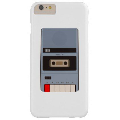 Cassette Tape Recorder Barely There iPhone 6 Plus Case - retro gifts style cyo diy special idea