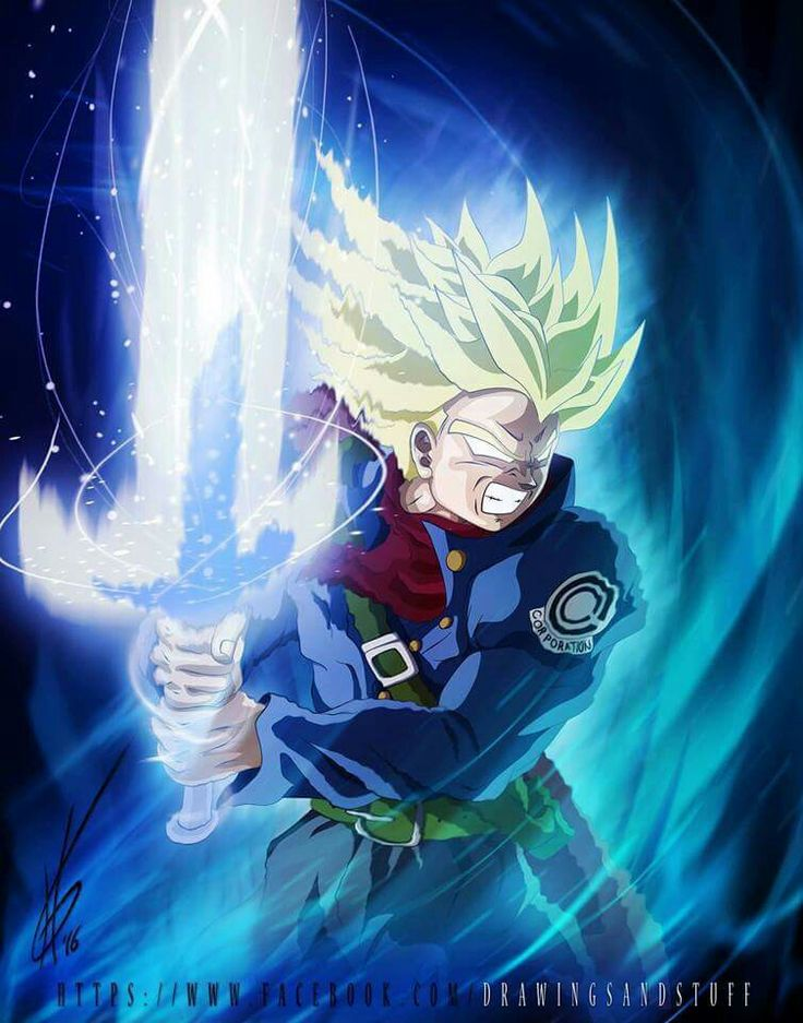 Trunks ssj false blue Genkidama sword