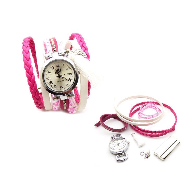 fr_1_kit_bracelet_manchette_montre_cuir_chaine_rose_fuchsia_cuir_blanc_cuir_tresse_rose_liberty_michael_