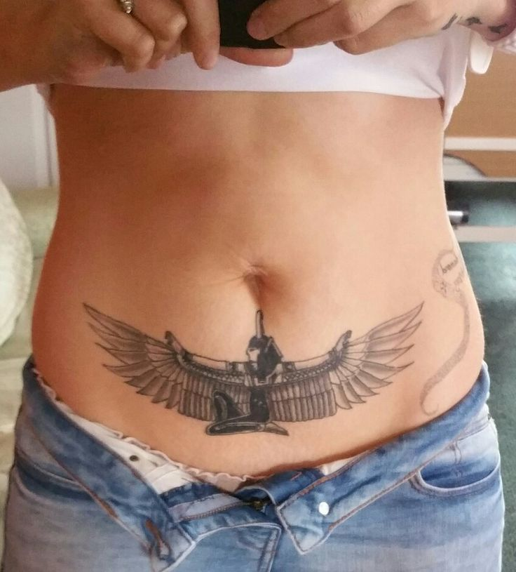 Tattoo but all the way wrapped around hips