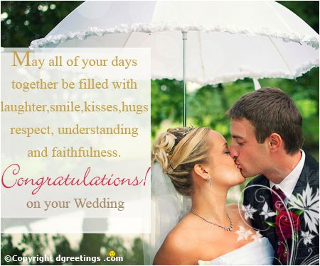 Congratulate and bless the couple on their wedding with this endearing card.