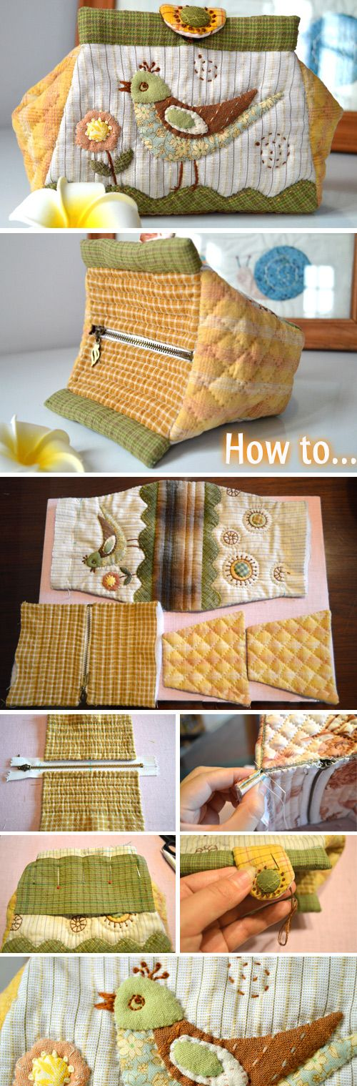 Folding Bag. Patchwork and Quilting. Photo Sewing Tutorial. Step by step DIY. http://www.handmadiya.com/2016/02/folding-bag-tutorial-patchwork-and.html