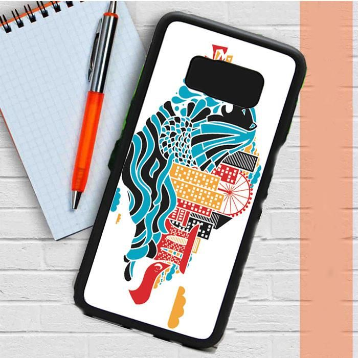 Singapore Art Cover Samsung Galaxy S8 Case Dewantary