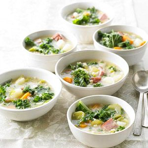 Danish Gronkaal Soup (Green Kale Soup) From Better Homes and Gardens, ideas and improvement projects for your home and garden plus recipes and entertaining ideas.