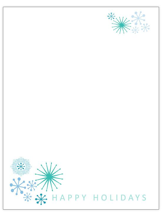 20 best Printable Winter Paper images on Pinterest Printable - holiday templates for word