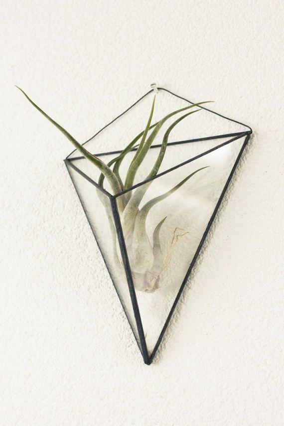 Opknoping hanging glass terrarium, geometric, hanging indoor garden, handgemaakt volglas terrarium
