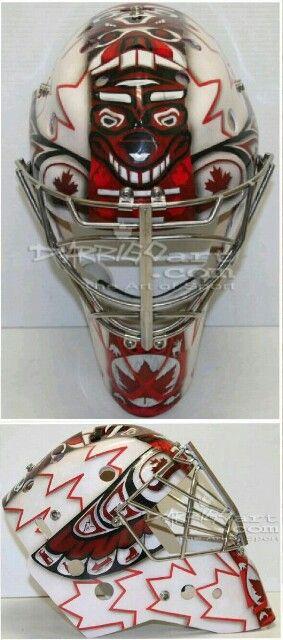 Mike Smith Sochi 2014 team Canada mask