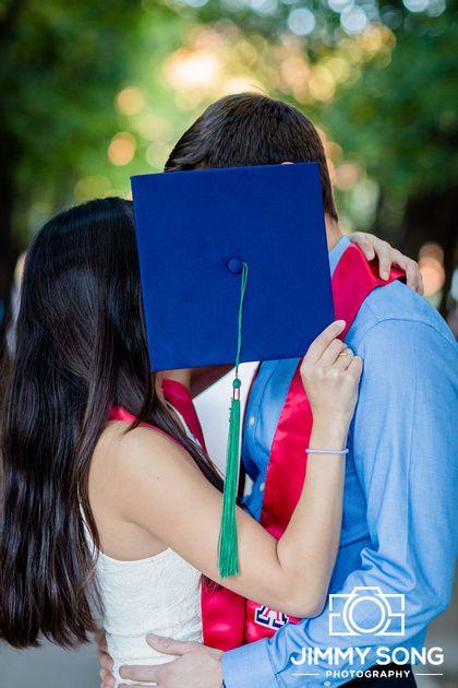 University of Arizona Senior Graduation Portraits Picture Idea  Dress couples cute pose cap