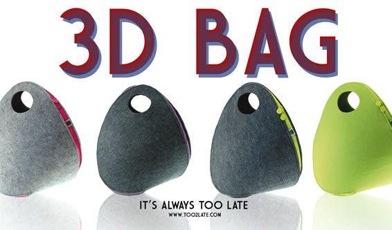 TOO LATE 3D BAG