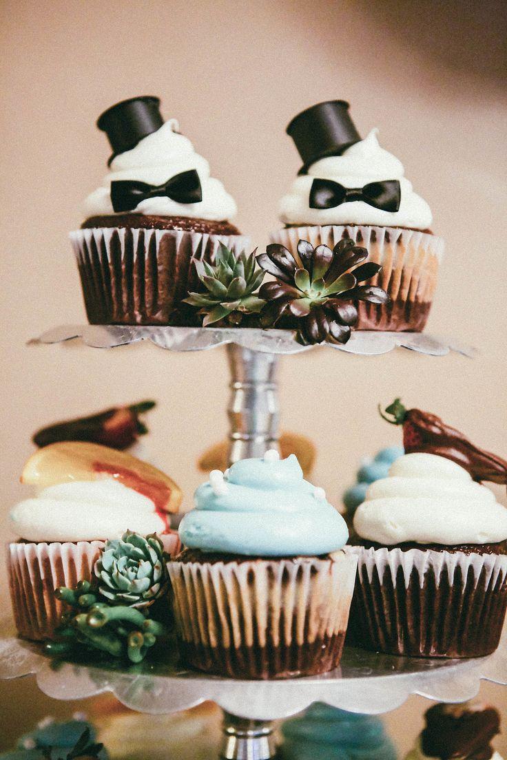 Cute cupcakes for gay wedding.