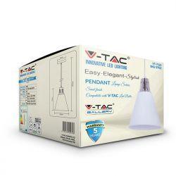 Φωτιστικό Οροφής Κρεμαστό μεταλλικό E27 White VT-7520 V-TAC