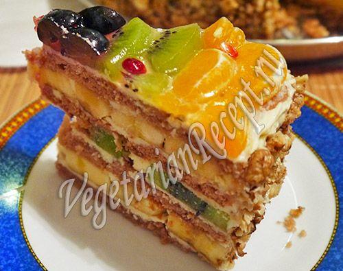 Фруктовый рай - торт с фруктами