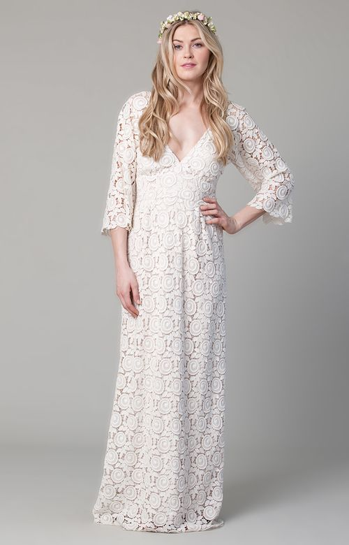 French Lace Petal Gown