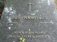 "Rien Poortvliet > (Text on his gravestone) ""I am curious how eternity looks"""