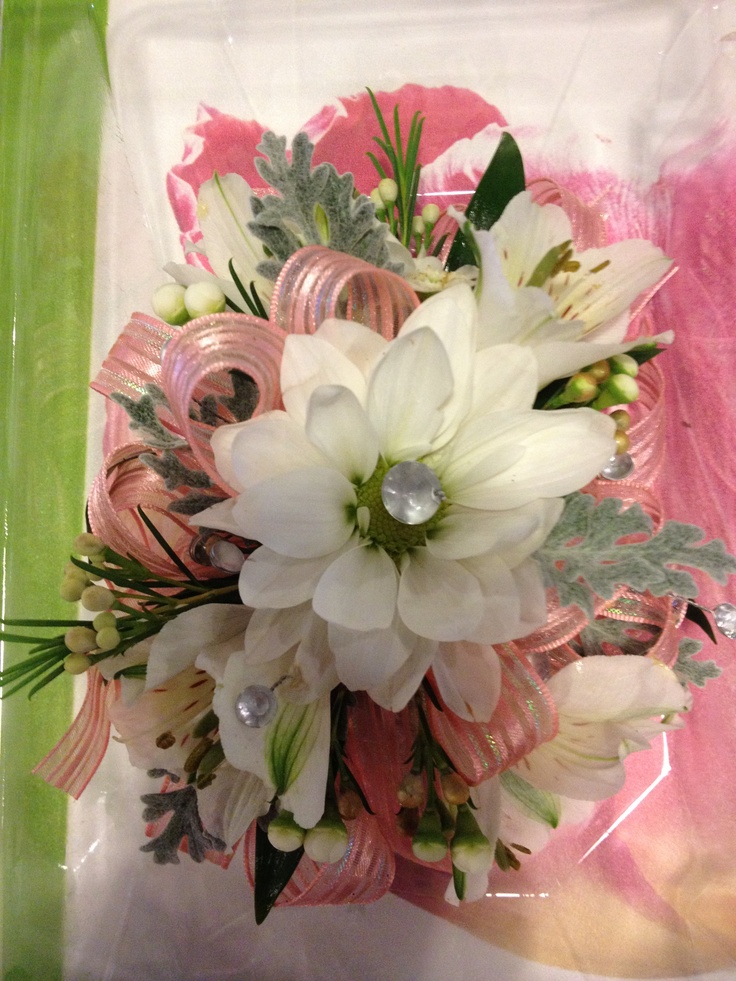 Glam Up Your Corsage With Some Crystal Accents Inserted