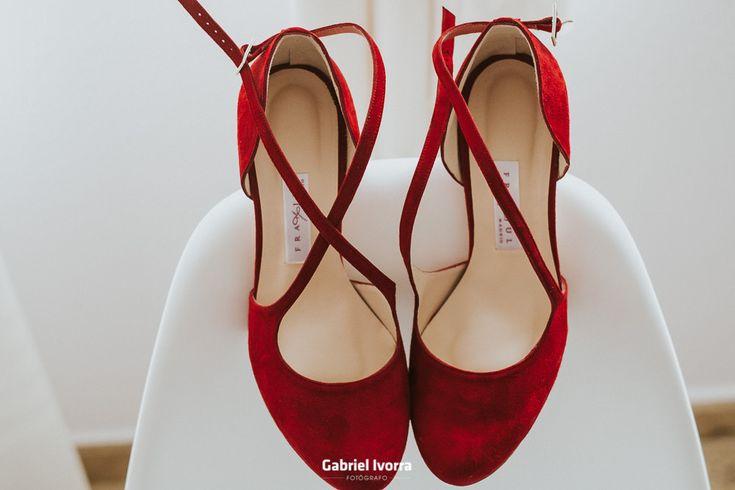 Zapatos de novia, calzados Franjul, wedding shoes, zapatos rojos.