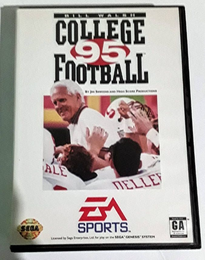 Bill Walsh College Football 95 Sega Genesis vintage video game with manual by Fchoicevintage on Etsy