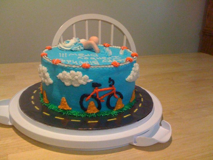 Birthday Cake For Triathlon Competitor I Made This The  cakepins.com