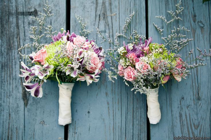 Rustic Bridal Flower Bouquets  Photography by @stylish hip weddings  BloomsByTheBox.com