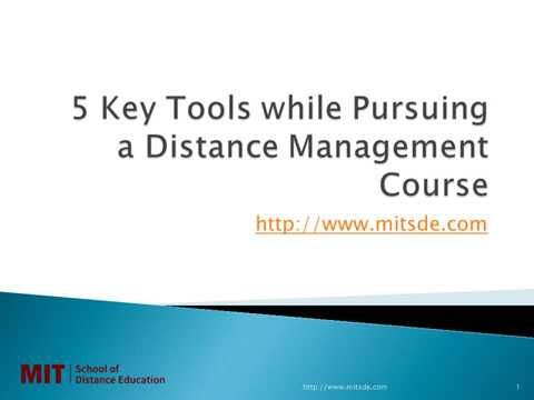 5 Key Tools while Pursuing a Distance Management Course | Correspondence...