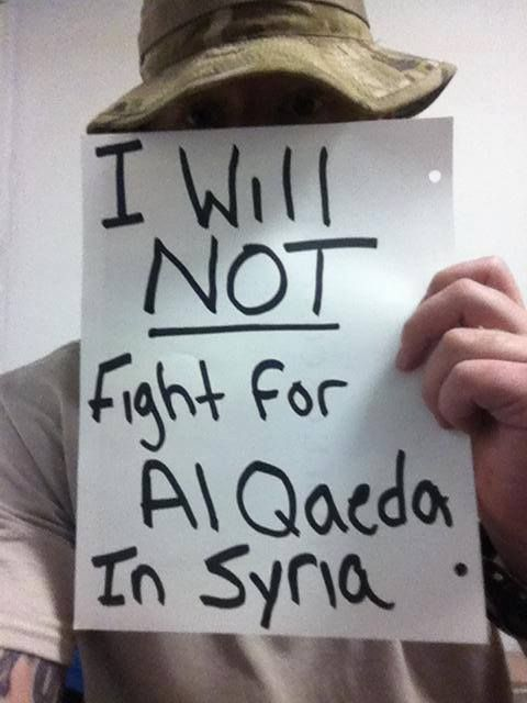 American Military Refusing To Fight For Al-Qaeda In Syria (Pictures)    http://beforeitsnews.com/alternative/2013/09/american-military-refusing-to-fight-for-al-qaeda-in-syria-pictures-2752748.html