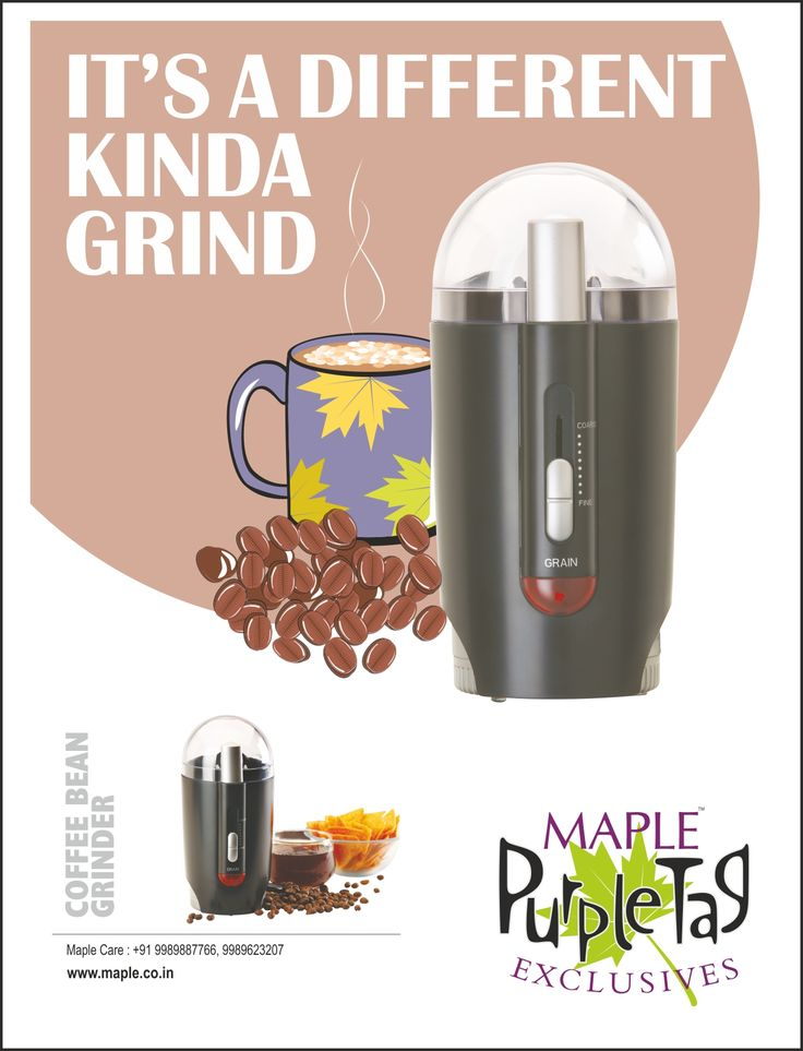 Buy Maple Coffee Bean Grinding Machine @ Rs.1,946  Maple Coffee Bean Grinder is a blade type coffee grinder that helps you grinding your own freshly ground coffee powder  Click Here: http://goo.gl/WEp3SU