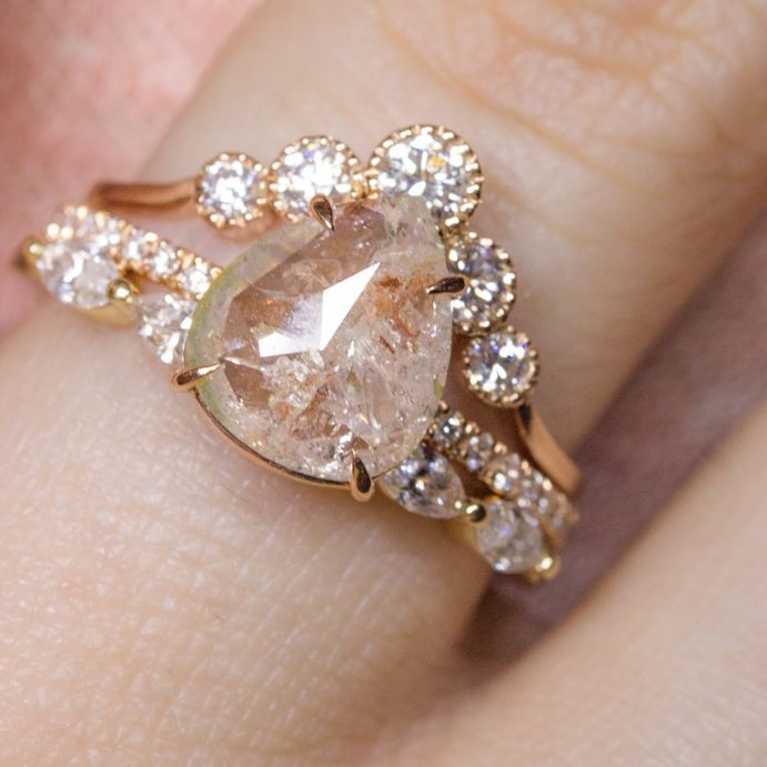38 best Unique Rings images on Pinterest Unique rings Rose gold