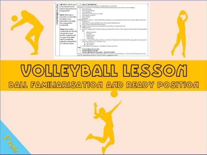 Volleyball Lesson Plan Introduction To Volleyball Familiarisation The Ready Position Year 7 Positivity Lesson How To Plan