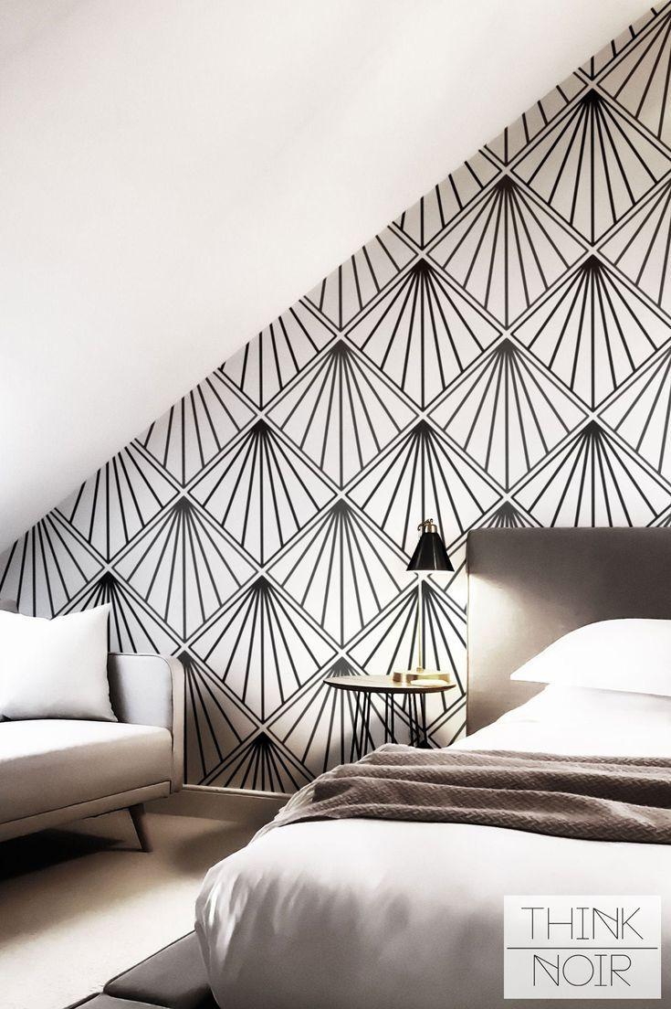 Art Deco Wallpaper Regular Or Self Adhesive Removable Etsy In 2020 Art Deco Wallpaper Art Deco Wall Deco