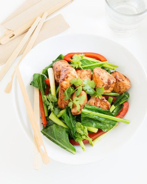 Ginger Salmon Stir-fry