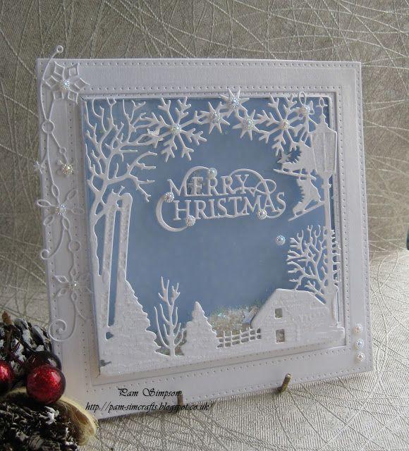 Christmas shaker card.. WinterTide Frame.