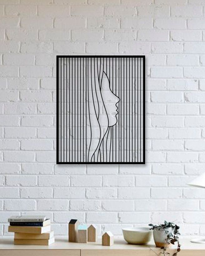 Silhouette Art – Metal Wall Art, Metal wall hanging, Silhouette Art Woman, Housewarming Gifts, Mothers day gift